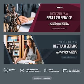 Modelo de capa do facebook da empresa de direito