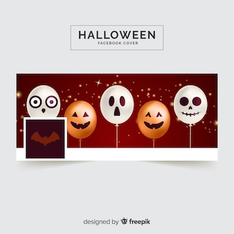 Modelo de capa do facebook de halloween