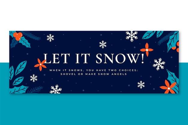 Modelo de capa do facebook de inverno