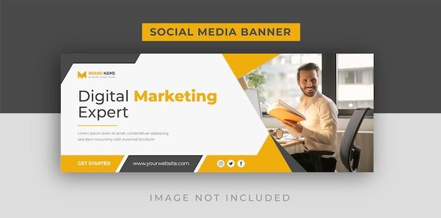 Modelo de capa do facebook de marketing empresarial digital