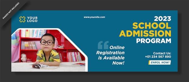 Modelo de capa do facebook para admissão escolar