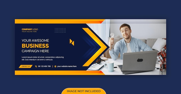 Modelo de capa do facebook para negócios corporativos