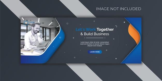 Modelo de capa do facebook para promoção de marketing de negócios corporativos e digitais