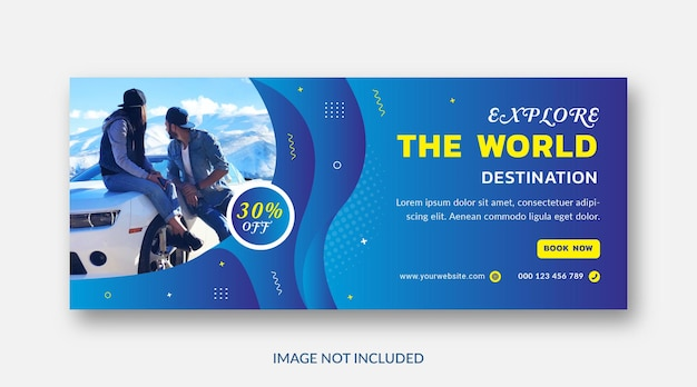 Modelo de capa do facebook para viagens de férias holyday