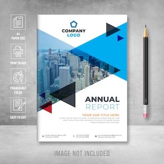 Modelo de capa do livro de relatório anual