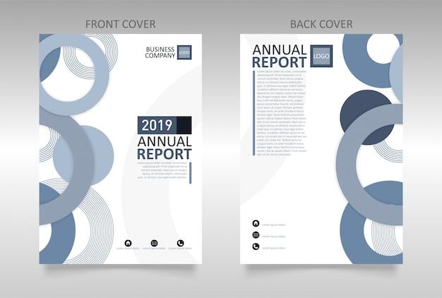 Modelo de capa do relatório anual