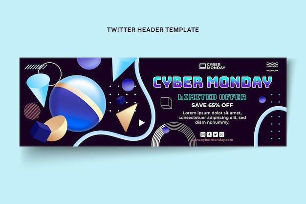 Modelo de capa do twitter cibernético realista