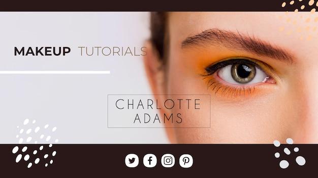 Modelo de capa do youtube maquiagem