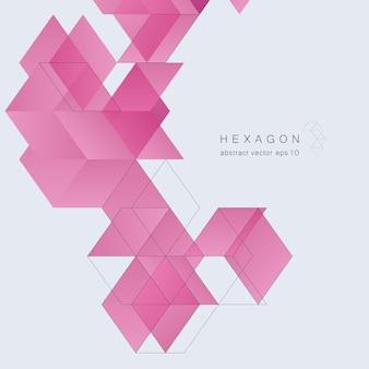 Modelo de capa geométrica abstrata com triângulos