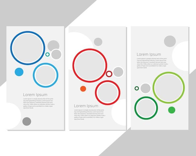 Modelo de capa moderna com conjunto de círculos