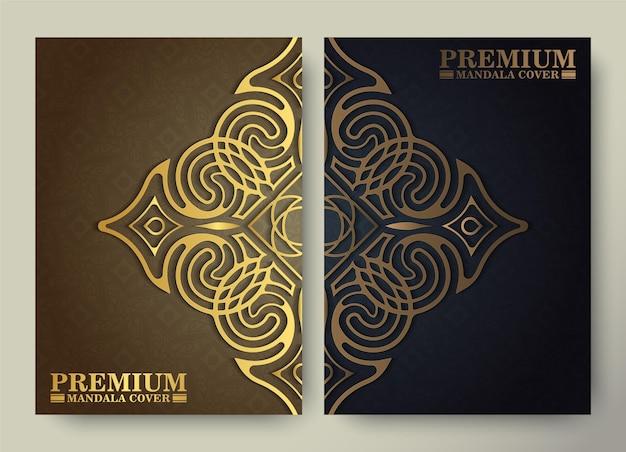 Modelo de capa padrão de ornamento de ouro