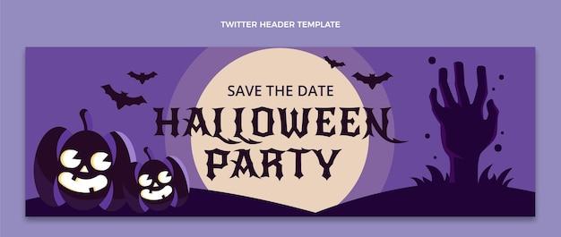 Modelo de capa plana do twitter para o dia das bruxas