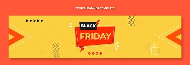 Modelo de capa preta plana sexta-feira twitch