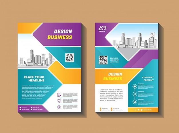 Modelo de capa tamanho a4 brochura comercial relatório anual