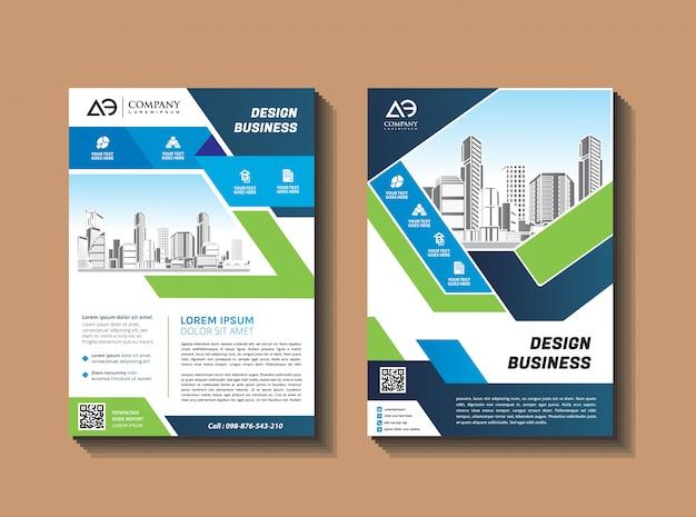 Modelo de capa tamanho a4 brochura de negócios capa de relatório anual