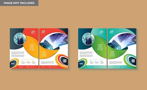 Modelo de capa tamanho a4 projeto de brochura comercial capa de relatório anual