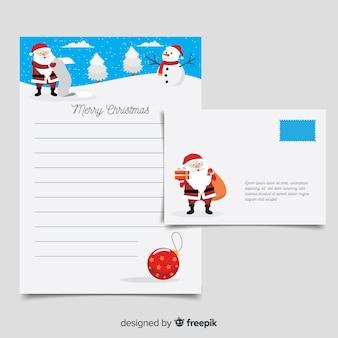 Modelo de carta de natal de papai noel lista