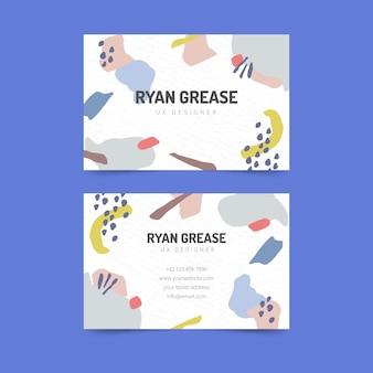 Modelo de cartão abstrato com cores pastel