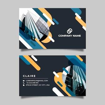 Modelo de cartão abstrato com foto