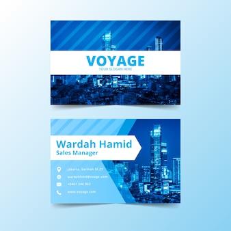 Modelo de cartão abstrato com imagem
