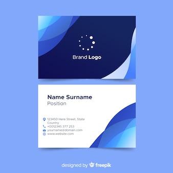 Modelo de cartão abstrato com logotipo
