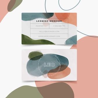 Modelo de cartão abstrato com manchas de cor pastel