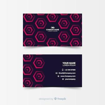 Modelo de cartão abstrato geométrico