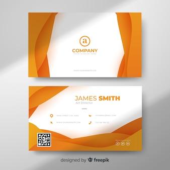 Modelo de cartão abstrato laranja