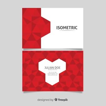 Modelo de cartão abstrato poligonal