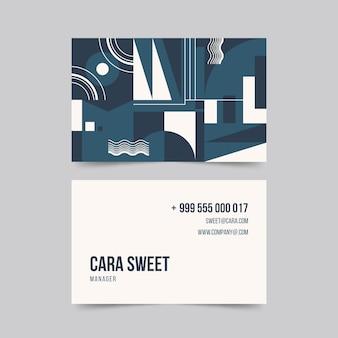 Modelo de cartão abstrato