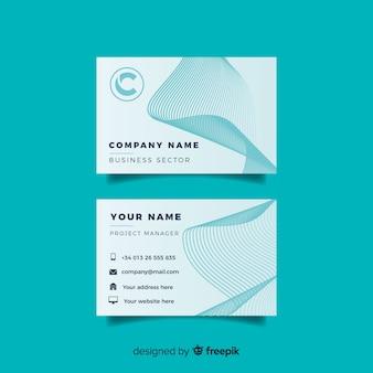 Modelo de cartão azul abstrato