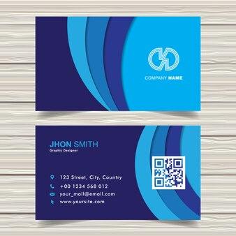 Modelo de cartão azul corporativo