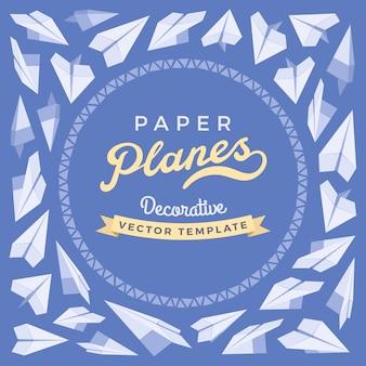 Modelo de cartão azul e branco com espaço de cópia