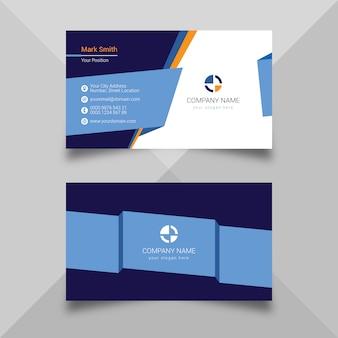 Modelo de cartão azul moderno