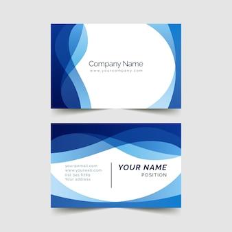 Modelo de cartão azul