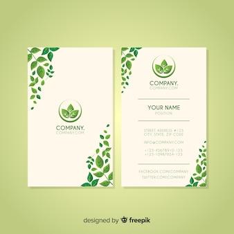 Modelo de cartão bonito com design de natureza