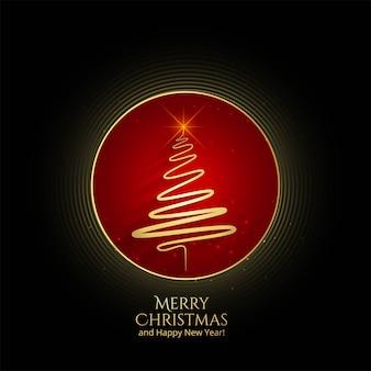 Modelo de cartão bonito feliz natal
