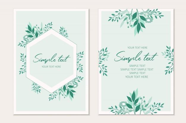 Modelo de cartão botânico. convites