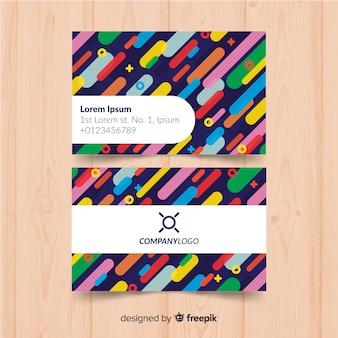 Modelo de cartão colorido com círculos