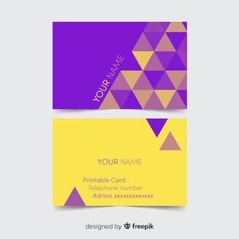 Modelo de cartão colorido com desenho geométrico