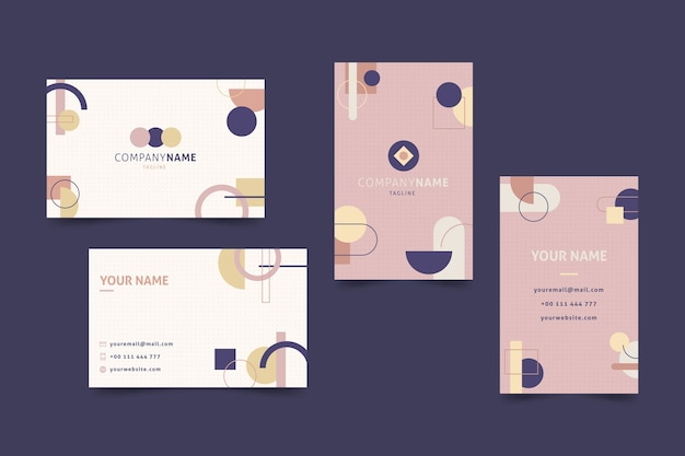Modelo de cartão colorido