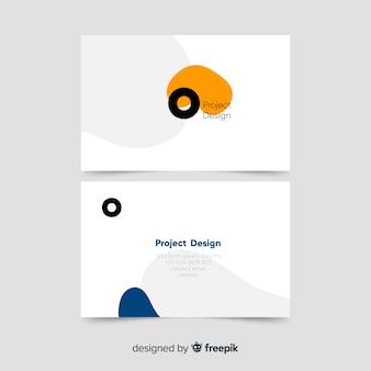 Modelo de cartão com abstractshapes