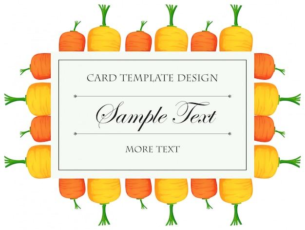 Modelo de cartão com cenouras coloridas