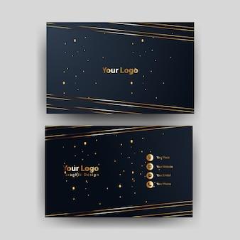 Modelo de cartão com conceito de ouro moderno