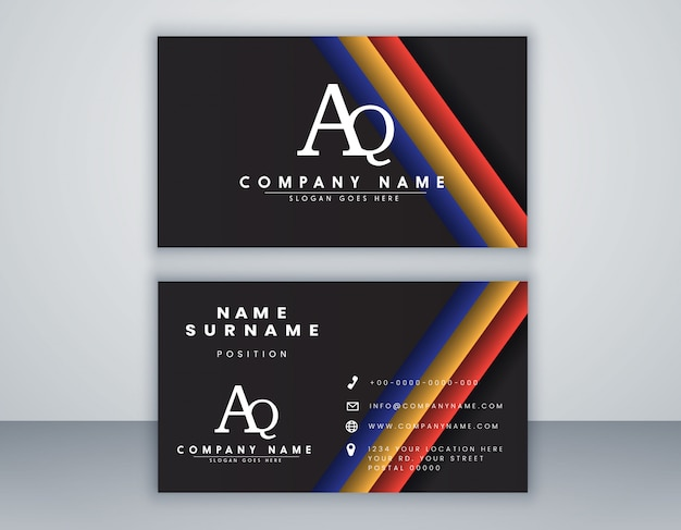 Modelo de cartão com conceito limpo de composição elegante elemento