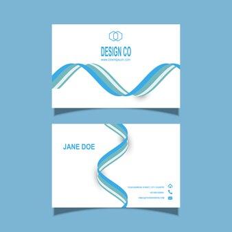 Modelo de cartão com design de linhas fluidas
