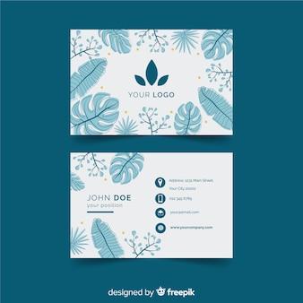 Modelo de cartão com design de natureza