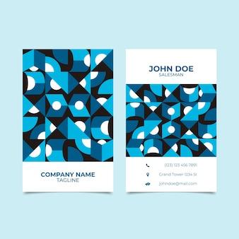 Modelo de cartão com estilo azul clássico