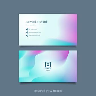 Modelo de cartão com formas gradientes abstratas
