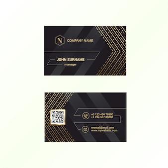 Modelo de cartão com fundo preto deluxe